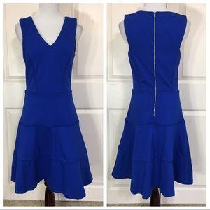 Banana Republic royal blue fit and flare dress